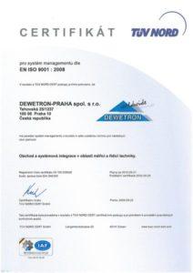 ISO Certifikát